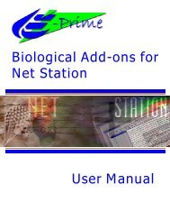 E-Prime Biological Add-ons for Net Station User Manual