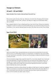 compte rendu de voyage vietnam ravel -avril 2012 - Les enfants du ...