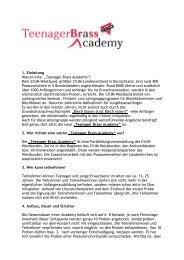 """""""Teenager Brass Academy""""? - CVJM-Westbund"""