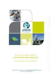 Cursus d'application en Architecture Navale - ENSTA Bretagne