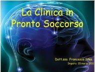La clinica in Pronto Soccorso - Progetto Ictus