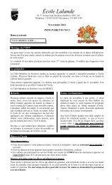 École Lalande - Commission scolaire Marguerite-Bourgeoys