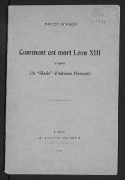 Comment est mort Léon XIII - Digital Repository Services