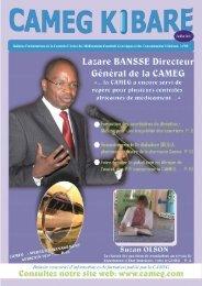 Bulletin semestriel d'informations et de formation publié par la CAMEG