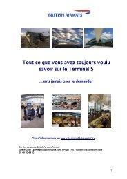 Tout ce que vous avez toujours voulu savoir sur le Terminal 5 ...sans ...