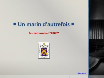 Le contre-amiral FORGET