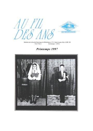 No. 2 Printemps - Société historique de Bellechasse