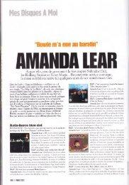 Rock & Folk - Follow - Amanda - Lear