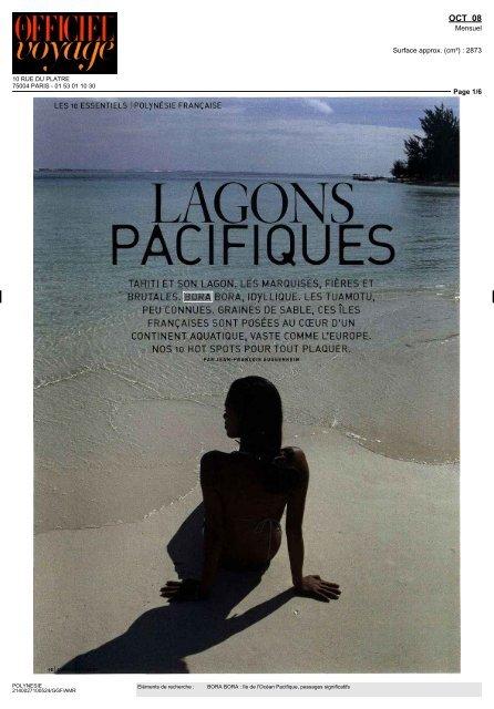 LAGONS PACIFIQUES - Tahiti Tourisme