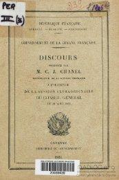 Discours prononcé par MCJ Chanel, gouverneur PI de la ... - Manioc