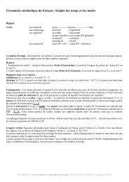 Grammaire méthodique du français : Emploi des temps et des modes