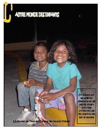 Mai 2007 photo couverture-2 - les Enfants de l'Autre Monde