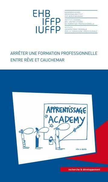 """Brochure """"Arrêter une formation professionnelle"""" - EHB"""