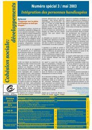 Cohésion sociale:Cohésion sociale:Cohésion ... - Council of Europe