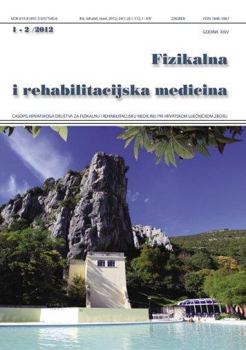 2012-1-2 - Hrvatsko društvo za fizikalnu i rehabilitacijsku medicinu ...