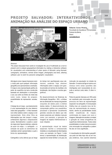 PROJETO SALVADOR: INTERATIVIDADE E ANIMAÇÃO NA ...
