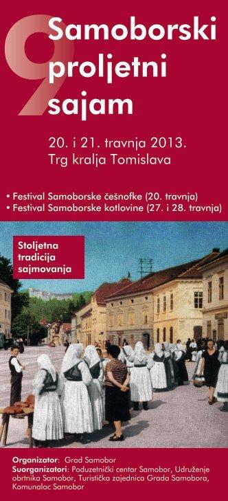 Preuzmite promo letak sajma - Samoborski proljetni sajam