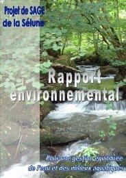 Rapport environnemental SAGE Sélune - Agence de l'Eau Seine ...
