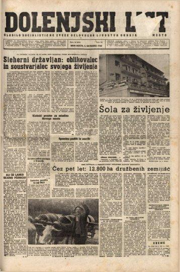 3. november 1960 (št. 554) - Dolenjski list
