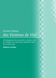 Gestion clinique des victimes de viol - libdoc.who.int - World Health ...