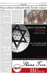 Pop culture imbued with Torah values - South African Jewish Report