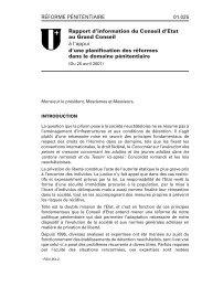 réforme pénitentiaire - Canton de Neuchâtel