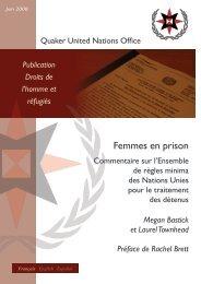 Règles pénitentiaires européennes - Quaker United Nations Office