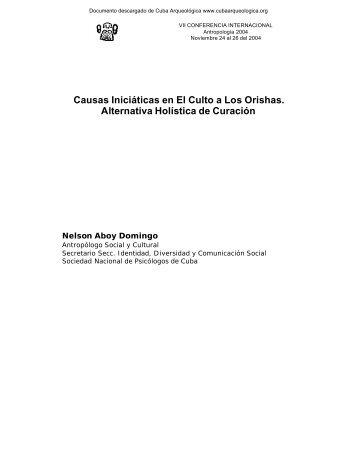 Causas Iniciáticas en El Culto a Los Orishas - Cuba Arqueológica