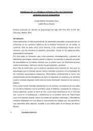 PRESENCIA DE LA CERÁMICA ESPAÑOLA EN LOS CONTEXTOS ...
