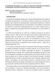 La estratigrafía arqueológica y su papel en el desarrollo ...
