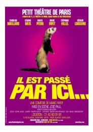 IL EST PASSE PAR ICI Dossier de presse - Vincent Serreau