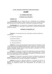 Ley No. 318 sobre el Patrimonio Cultural de la Nación. G.O. 9086 ...