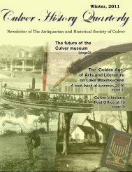 AHS-Newsletter-2011 - Antiquarian and Historical Society of Culver