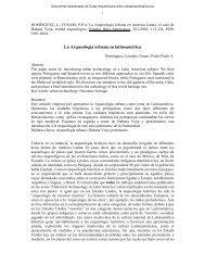 La Arqueología Urbana en América Latina - Cuba Arqueológica