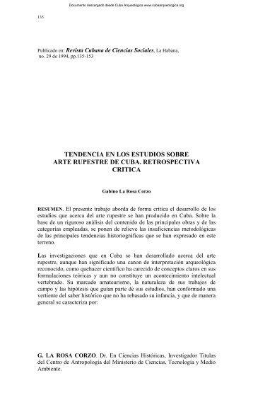 Tendencias en los estudios sobre arte rupestre de Cuba ...