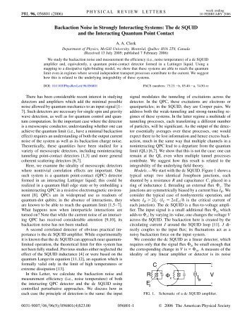 Back-action in Strongly Interacting Quantum Detectors