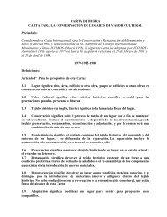 CARTA DE BURRA CARTA PARA LA CONSERVACIÓN DE ...