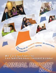 2009 Annual Report - Montreal Fluency