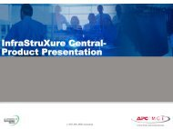 Infrastruxure Central- 9-Slide Product Presentation - APC