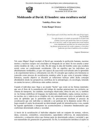 Moldeando al David. El hombre: una escultura social - Cuba ...