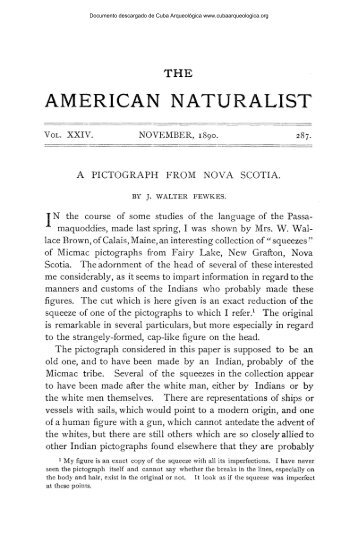 A Pictograph from Nova Scotia - Cuba Arqueológica