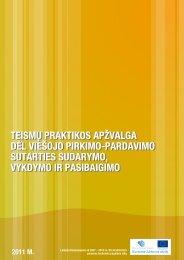 teismų praktikos apžvalga dėl viešojo pirkimo-pardavimo - Europos ...