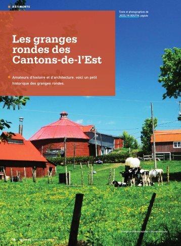 Les granges rondes des Cantons-de-l'Est - Fédération des ...