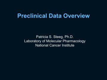 Preclinical data overview and brain permeable compounds - Cancer ...
