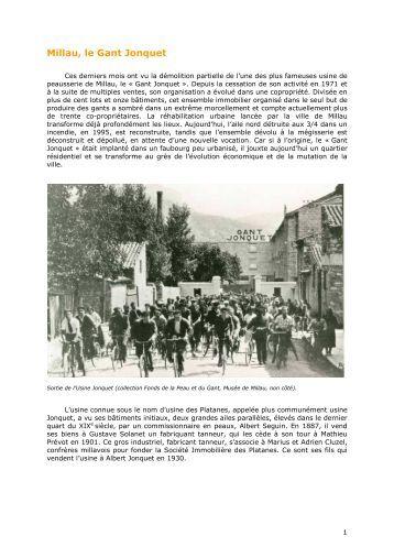 Millau, le Gant Jonquet - Le patrimoine de Midi-Pyrénées - Région ...