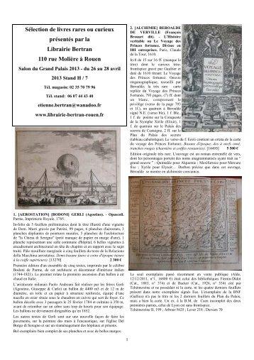 Liste Grand Palais 2013 - Librairie Bertran
