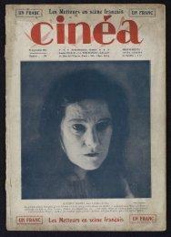 Cinéa n°20, 23/09/1921 - Ciné-ressources
