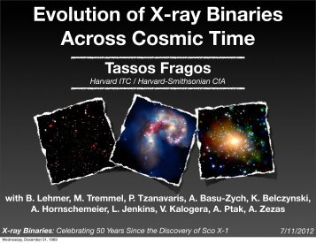 X-ray Binary Evolution Across Cosmic Time - Chandra X-Ray ...