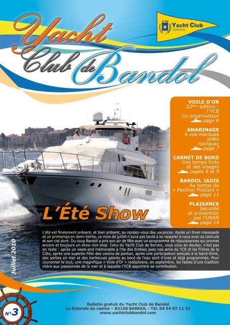 Télécharger - Yacht club de Bandol