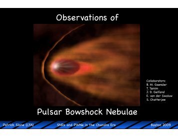 Observations of Bow-Shock Pulsar Wind Nebulae - Chandra X-Ray ...
